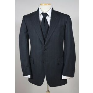 Jos A Bank Men's Pinstripe Wool Blazer